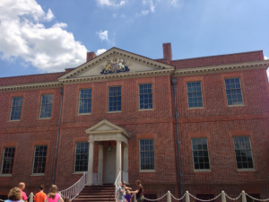The reconstructed Tryon Palace in New Bern