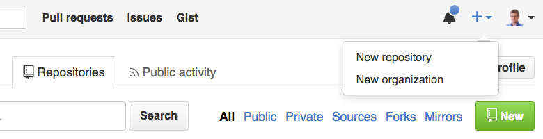 Creating a new GitHub repo
