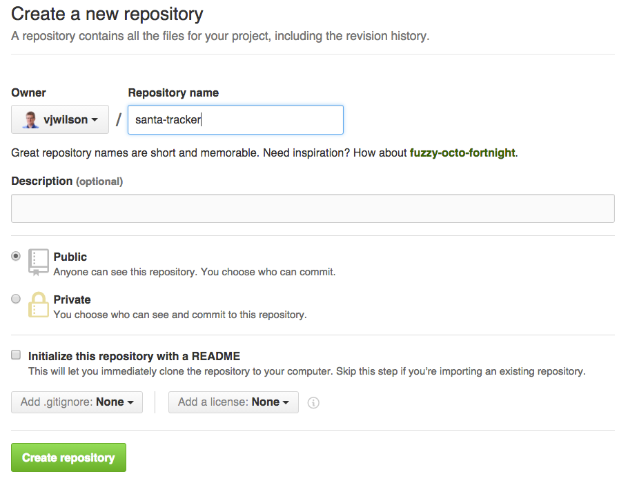 Fill in repo name on GitHub