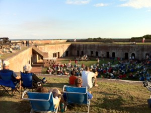 Friday night concert at Fort Macon